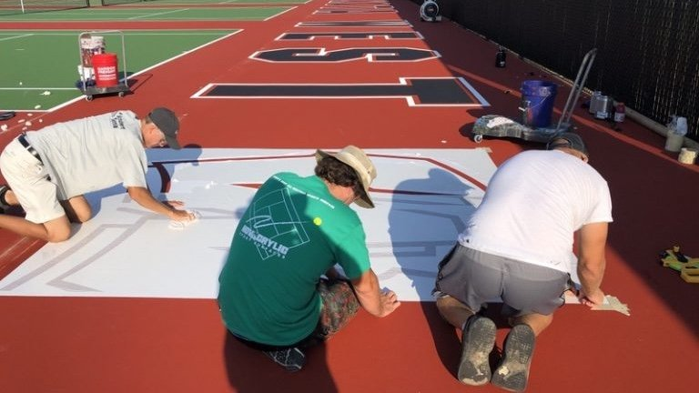 Lakota West High School Tennis Courts Repainting with Spirit