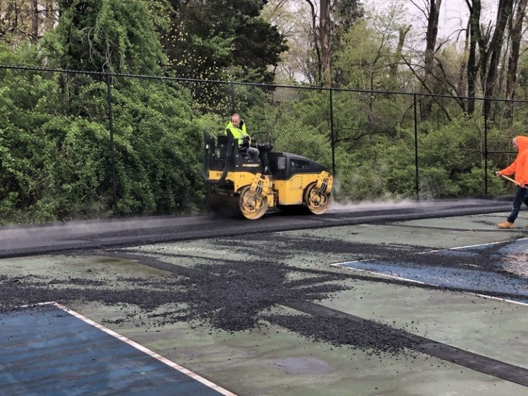 The Blacktop is going down - great court