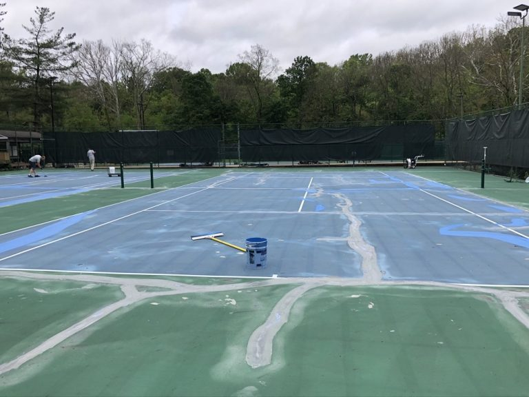 courts-before-Tennis and Pickleball Courts